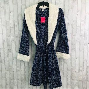 Ulta Blue & White Bath Robe